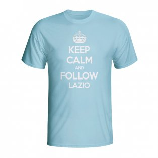 Keep Calm And Follow Lazio T-shirt (sky Blue) - Kids