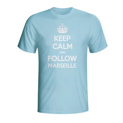 Keep Calm And Follow Marseille T-shirt (sky Blue) - Kids