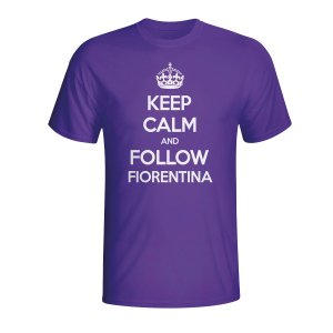 Keep Calm And Follow Fiorentina T-shirt (purple) - Kids
