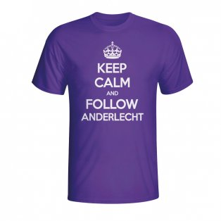 Keep Calm And Follow Anderlecht T-shirt (purple) - Kids