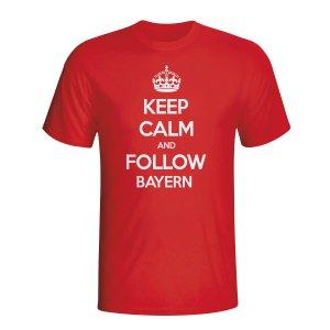 Keep Calm And Follow Bayern Munich T-shirt (red) - Kids