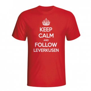 Keep Calm And Follow Bayer Leverkusen T-shirt (red)