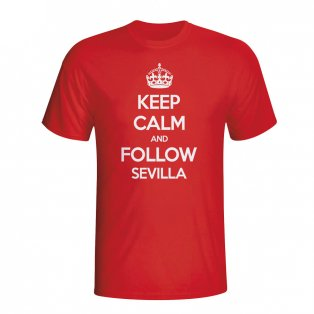 Keep Calm And Follow Sevilla T-shirt (red) - Kids