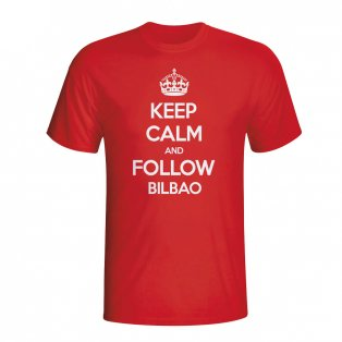 Keep Calm And Follow Athletic Bilbao T-shirt (red)