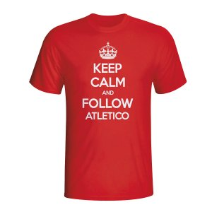 Keep Calm And Follow Atletico Madrid T-shirt (red) - Kids