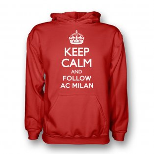 Keep Calm And Follow Ac Milan Hoody (red) - Kids