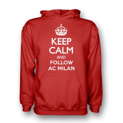 Keep Calm And Follow Ac Milan Hoody (red)