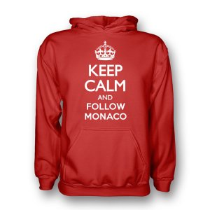 Keep Calm And Follow Monaco Hoody (red)