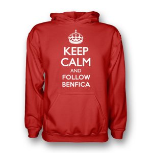 Keep Calm And Follow Benfica Hoody (red)