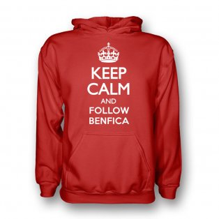 Keep Calm And Follow Benfica Hoody (red) - Kids