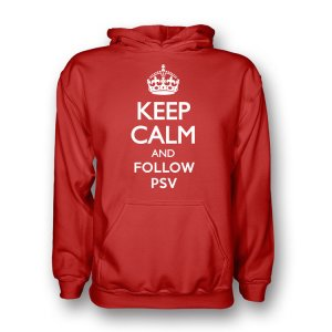 Keep Calm And Follow Psv Eindhoven Hoody (red)