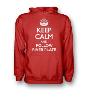 Keep Calm And Follow River Plate Hoody (red) - Kids