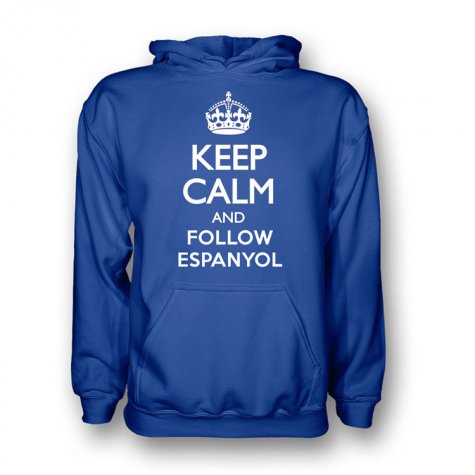 Keep Calm And Follow Espanyol Hoody (blue) - Kids