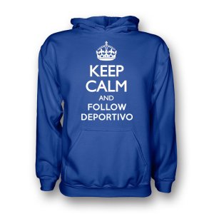 Keep Calm And Follow Deportivo Hoody (blue)