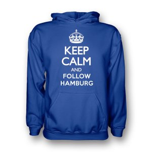 Keep Calm And Follow Hamburg Hoody (blue) - Kids