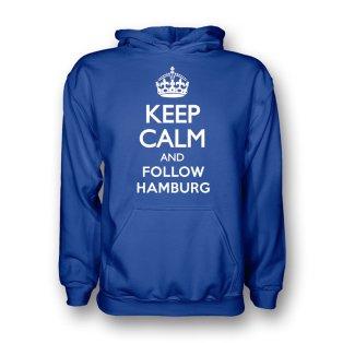 Keep Calm And Follow Hamburg Hoody (blue) - Kids