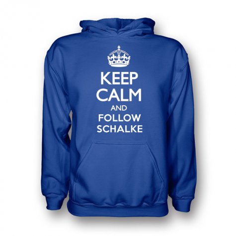Keep Calm And Follow Schalke Hoody (blue)