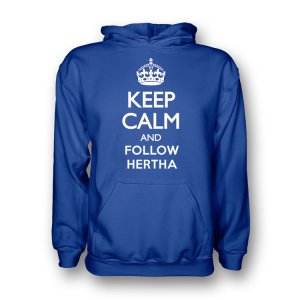 Keep Calm And Follow Hertha Berlin Hoody (blue) - Kids