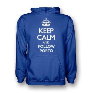 Keep Calm And Follow Porto Hoody (blue) - Kids