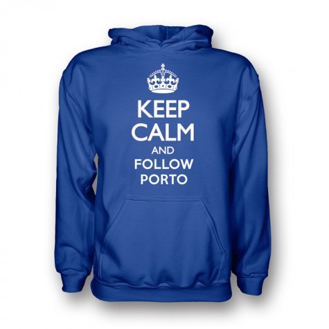 Keep Calm And Follow Porto Hoody (blue) - Kids