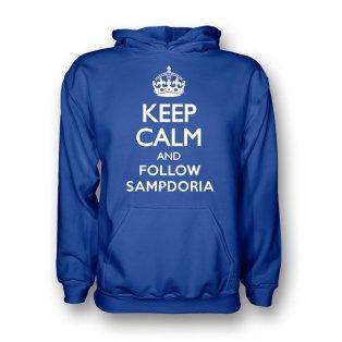 Keep Calm And Follow Sampdoria Hoody (blue) - Kids