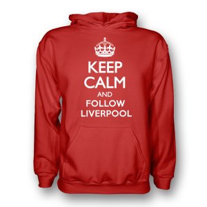 Keep Calm And Follow Liverpool Hoody (red)