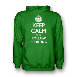 Keep Calm And Follow Sporting Lisbon Hoody (green) - Kids