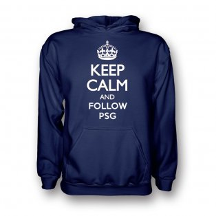 Keep Calm And Follow Psg Hoody (navy) - Kids