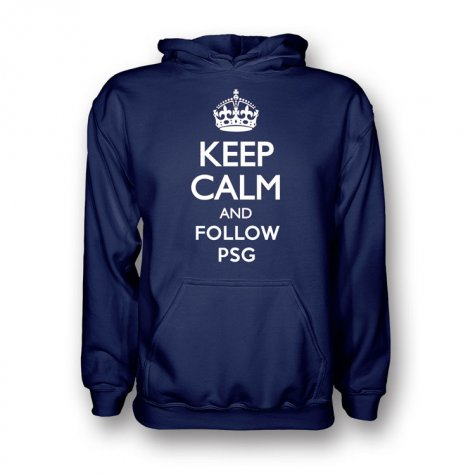 Keep Calm And Follow Psg Hoody (navy)