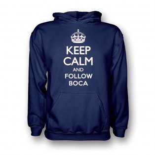 Keep Calm And Follow Boca Juniors Hoody (navy)