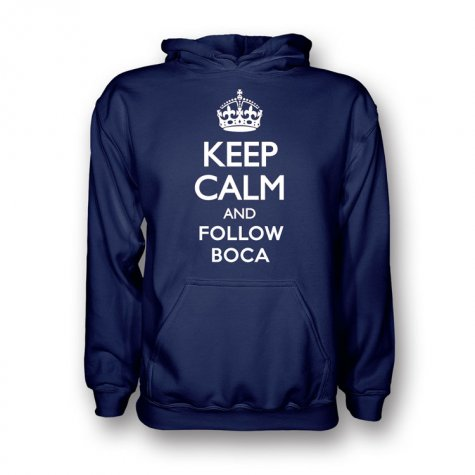 Keep Calm And Follow Boca Juniors Hoody (navy)