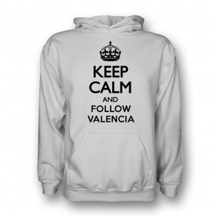 Keep Calm And Follow Real Madrid Hoody (white) - Kids
