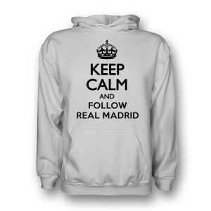 Keep Calm And Follow Valencia Hoody (white) - Kids