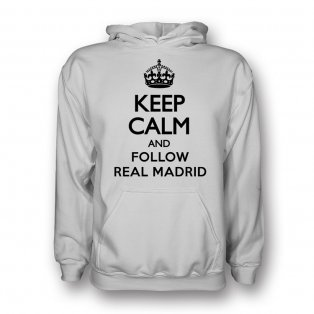 Keep Calm And Follow Valencia Hoody (white)