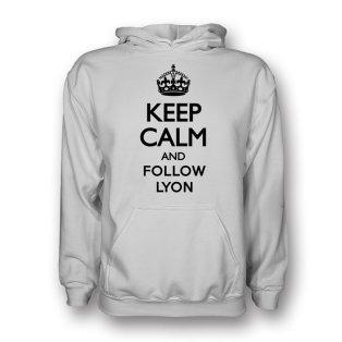 Keep Calm And Follow Lyon Hoody (white) - Kids