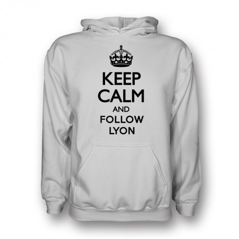 Keep Calm And Follow Lyon Hoody (white)
