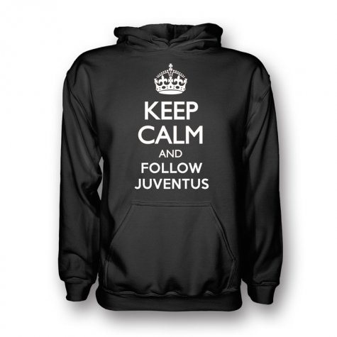 Keep Calm And Follow Juventus Hoody (Black) - Kids