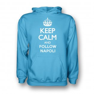 Keep Calm And Follow Napoli Hoody (sky Blue) - Kids