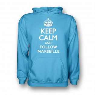 Keep Calm And Follow Marseille Hoody (sky Blue) - Kids
