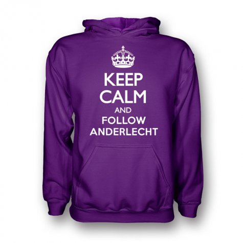 Keep Calm And Follow Fiorentina Hoody (purple) - Kids