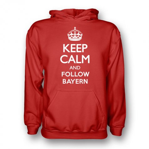 Keep Calm And Follow Bayern Munich Hoody (red)
