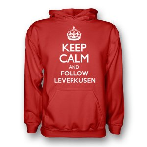Keep Calm And Follow Bayer Leverkusen Hoody (red) - Kids