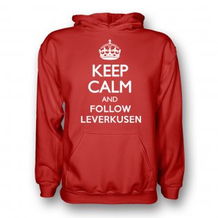 Keep Calm And Follow Bayer Leverkusen Hoody (red)
