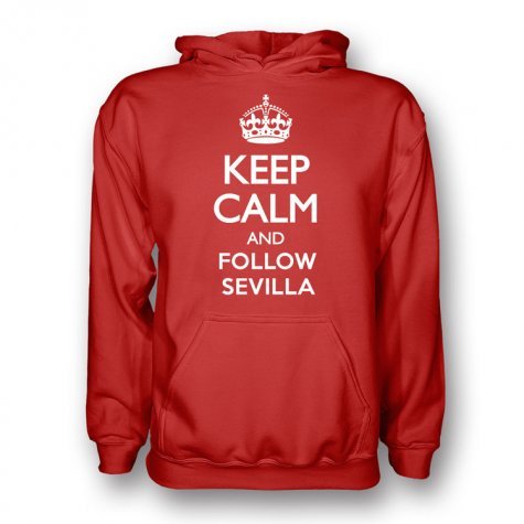Keep Calm And Follow Sevilla Hoody (red)