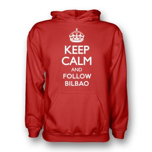 Keep Calm And Follow Athletic Bilbao Hoody (red) - Kids