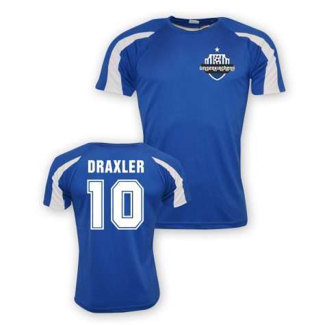 Julian Draxler Schalke Sports Training Jersey (blue)