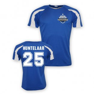 Klaas Jan Huntelaar Schalke Sports Training Jersey (blue) - Kids