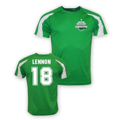 Neil Lennon Celtic Sports Training Jersey (green) - Kids