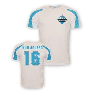 Sergio Aguero Man City Sports Training Jersey (white) - Kids