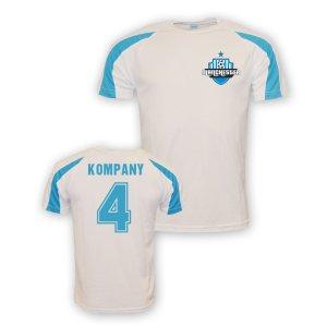 Vincent Kompany Man City Sports Training Jersey (white)